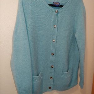 Pendleton Blue Cardigan Pockets Buttons Large wool